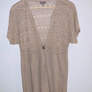 J. Jill Womens Tan Short Sleeve Sweater Sz. L